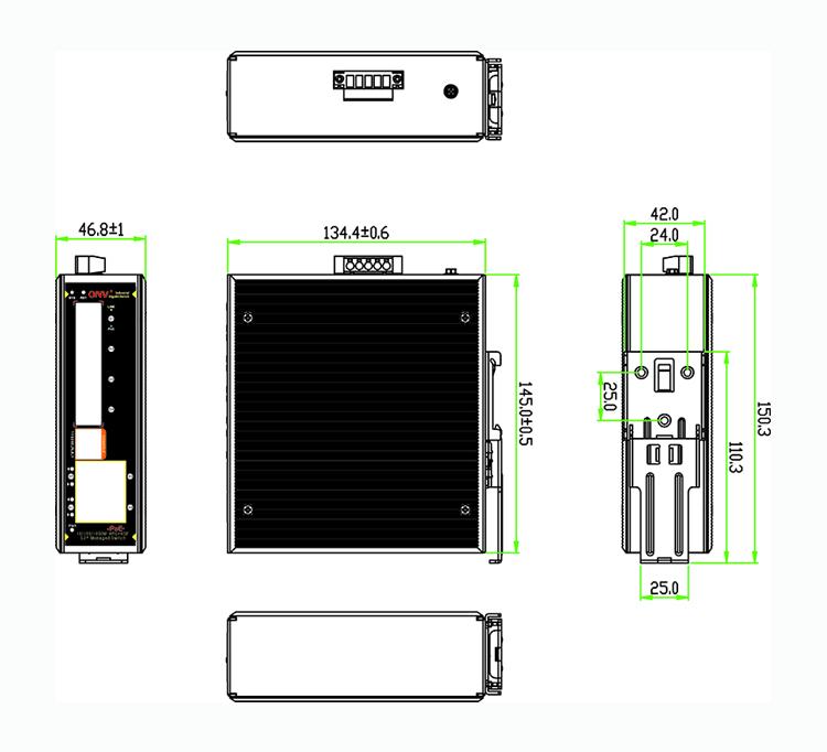 8-port gigabit industrial PoE switch,industrial PoE switch,industrial switch