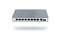 Gigabit uplink 10-port PoE fiber switch