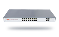 Gigabit uplink 18-port PoE fiber switch