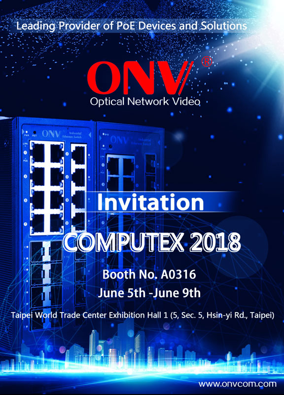 ONV PoE switch at Computex TaiPei,PoE switch