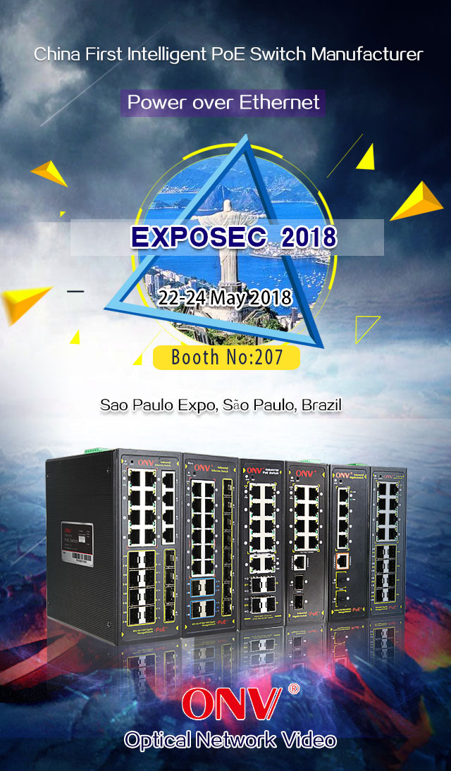 ONV PoE switch at EXPOSEC,PoE switch