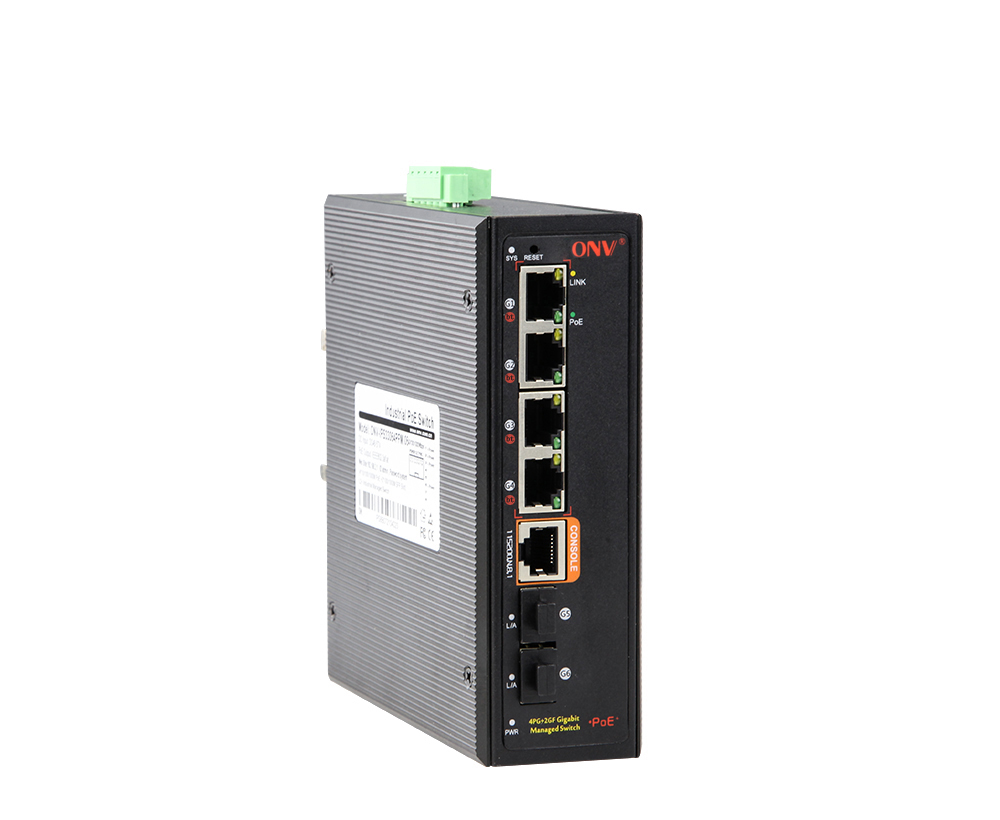 Full gigabit 6-port managed bt industrial PoE switch