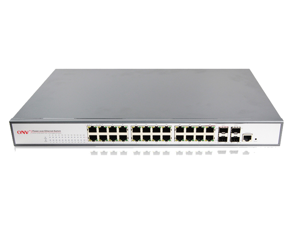 Full gigabit 26-port L2+ managed PoE switch